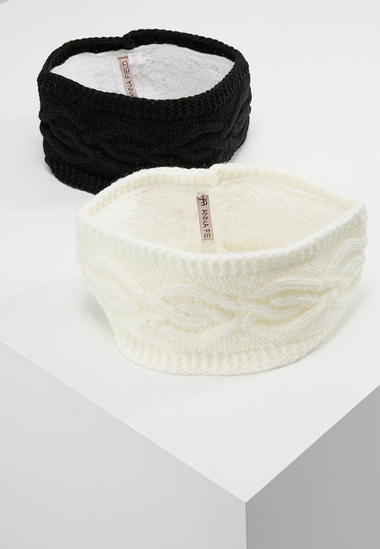 Anna Field - 2 PACK - Oorwarmers - black/off-white