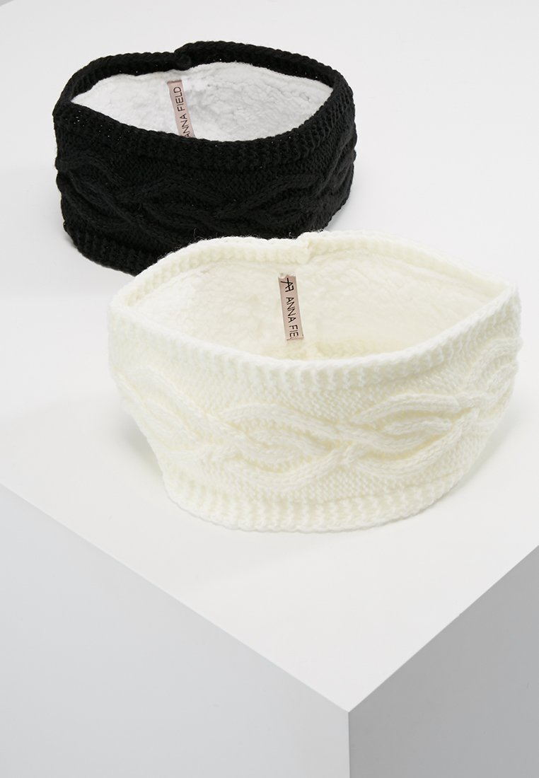 Anna Field - 2 PACK - Ear warmers - black/off-white