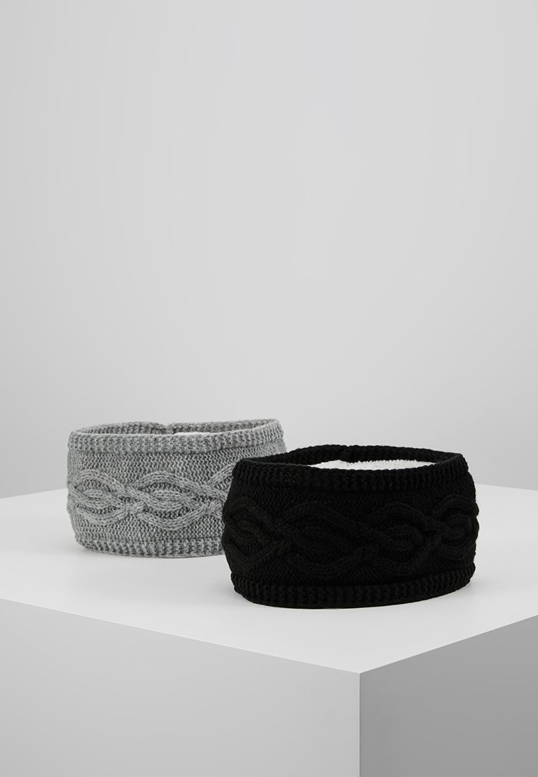 Anna Field - 2 PACK - Ear warmers - black/grey