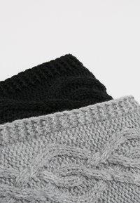 Anna Field - 2 PACK - Ear warmers - black/grey - 5