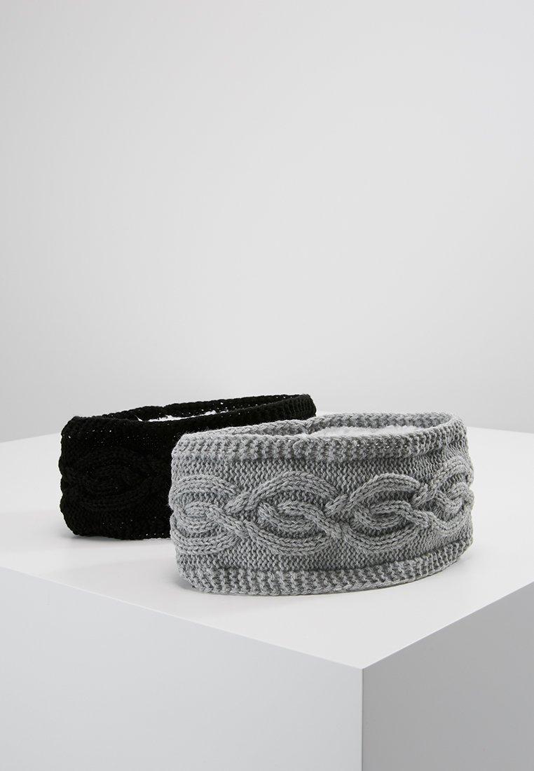 Anna Field - 2 PACK - Ohrenwärmer - black/grey