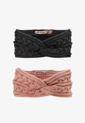 2 PACK - Ear warmers - grey/rose