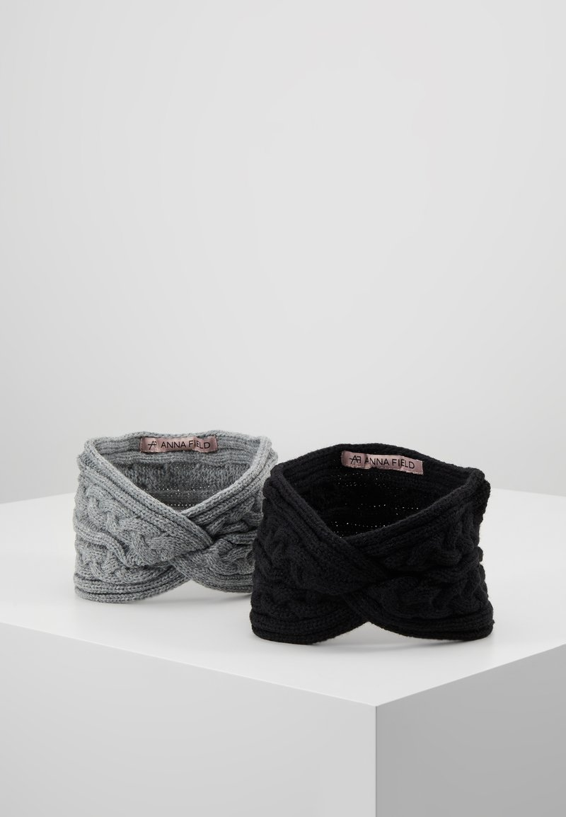 Anna Field - 2 PACK - Ohrenwärmer - black/grey