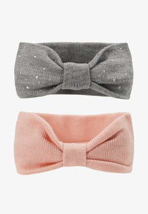 2 PACK - Ear warmers - grey/pink