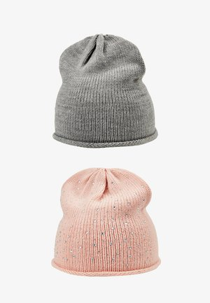 2 PACK - Beanie - rose/grey