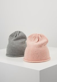 Anna Field - 2 PACK - Gorro - rose/grey - 0