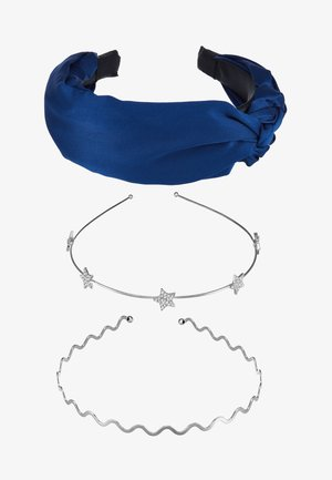 SET 3 PACK - Hårstyling-accessories - silver-coloured/blue