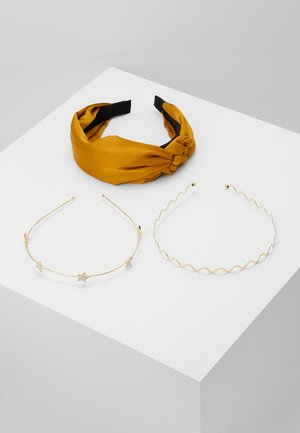 SET 3 PACK - Hair styling accessory - yellow/gold-coloured