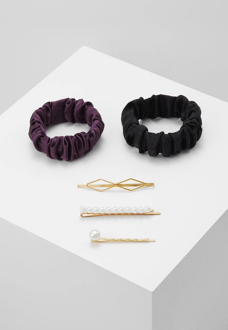 Anna Field - SET-5 PACK - Hair styling accessory - black/purple