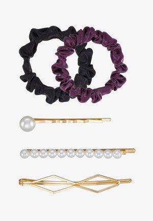 SET-5 PACK - Hair Styling Accessory - black/purple