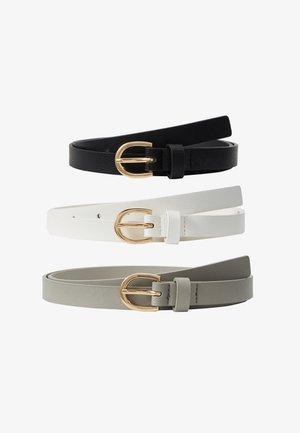 3 PACK - Waist belt - grey/white