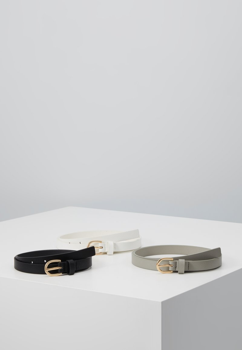 Anna Field - 3 PACK - Midjebelte - grey/white