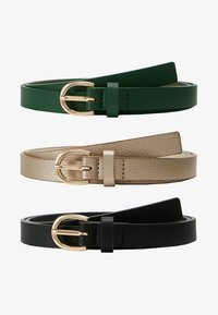 dark green/black/gold