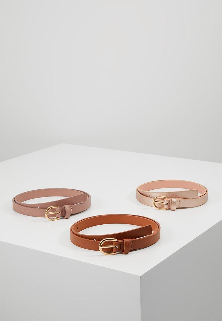 Anna Field - 3 PACK - Waist belt - cognac/rose/rosegold
