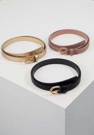 3 PACK - Tailleriem - black/gold-coloured/mauve