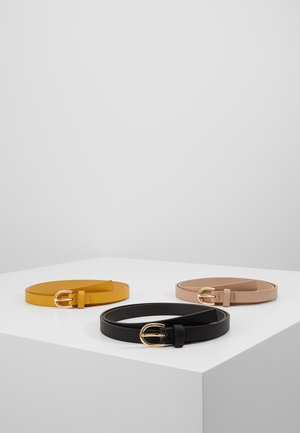 3 PACK - Waist belt - black/yellow/taup