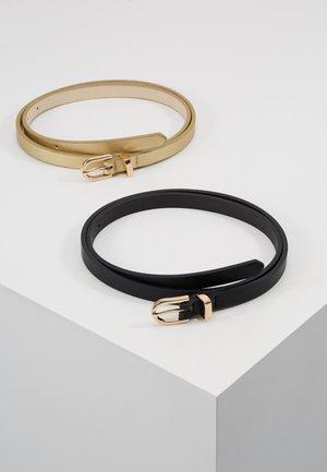 2 PACK - Belt - black/gold