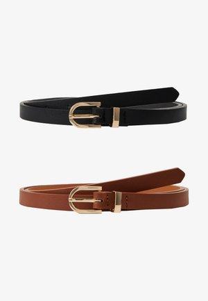 2 PACK - Pásek - black/dark brown