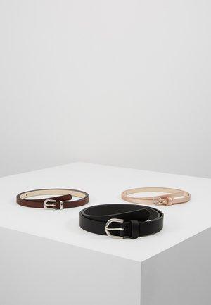 3 PACK - Riem - black/dark brown