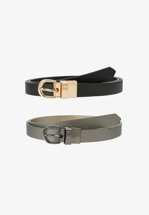 REVERSIBLE 2 PACK - Belt - black/gunmetal