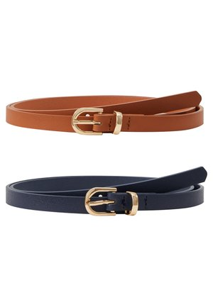 2 PACK - Riem - cognac/dark blue