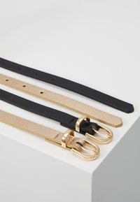 Anna Field - 2 PACK - Belte - black/gold - 3