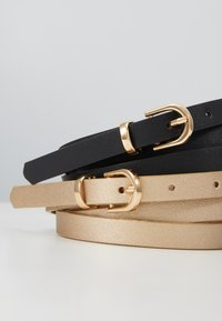 Anna Field - 2 PACK - Belte - black/gold - 2
