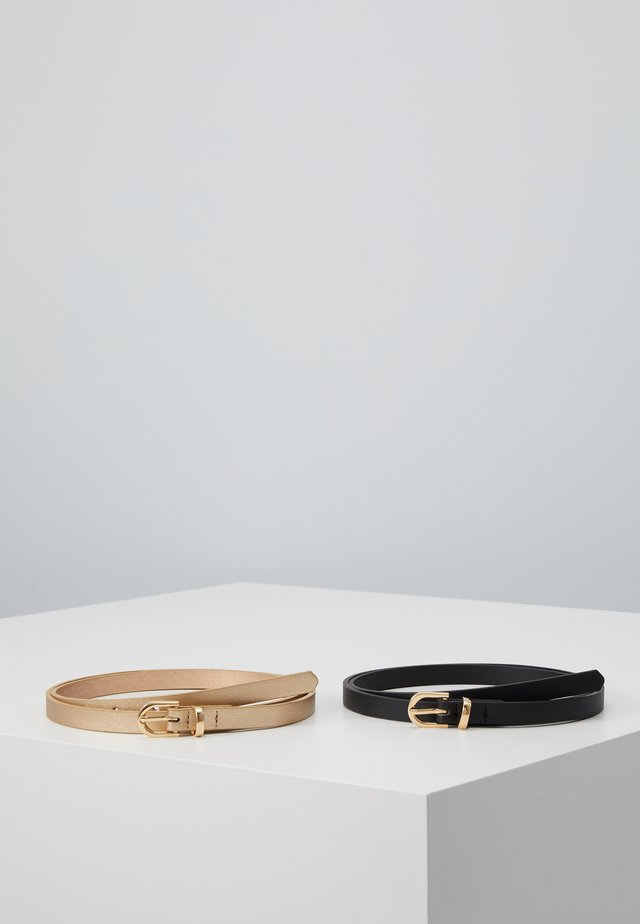 2 PACK - Cintura - black/gold