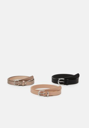Waist belt - nude/black/gold