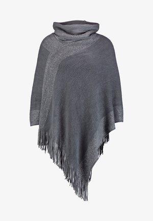 Poncho - grey/silver