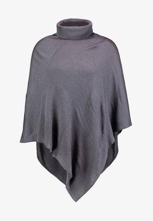 Poncho - mottled dark grey