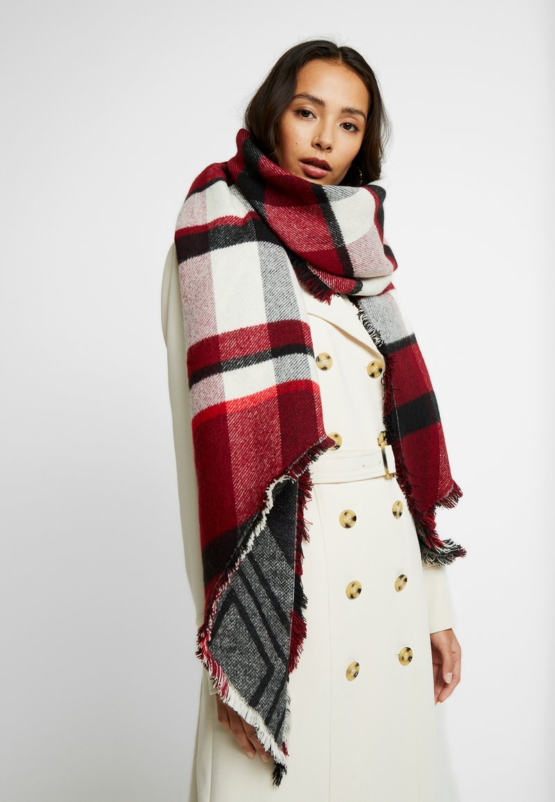 Anna Field - Scarf - black/bordeaux