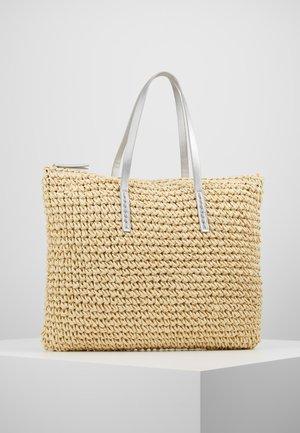 Shoppingväska - beige/silver