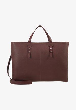 LEATHER - Laptop bag - burgundy