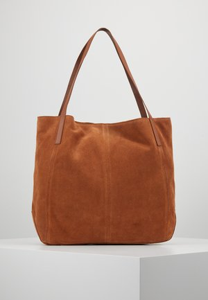 LEATHER - Cabas - cognac