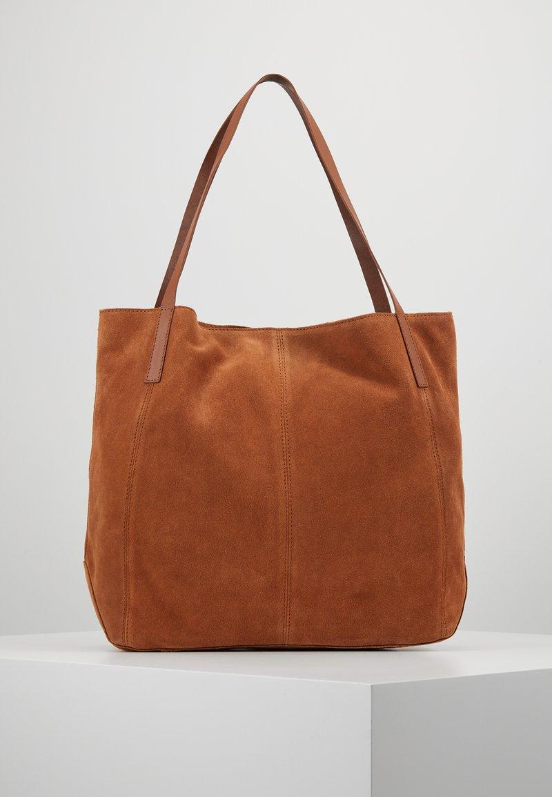 Anna Field - LEATHER - Shopping bag - cognac