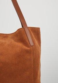 Anna Field - LEATHER - Shopper - cognac - 6