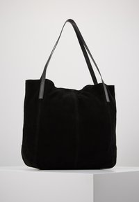Anna Field - LEATHER - Shoppingväska - black - 0