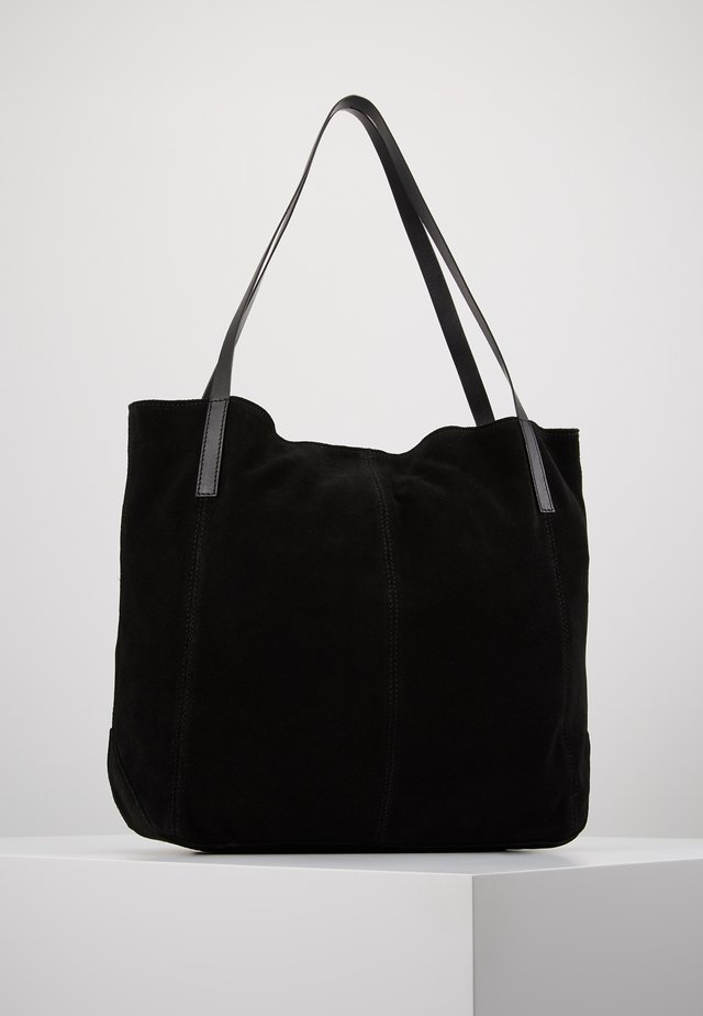 LEATHER - Shopping Bag - black