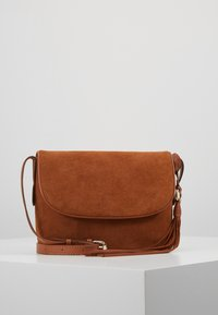 Anna Field - LEATHER - Torba na ramię - cognac - 0