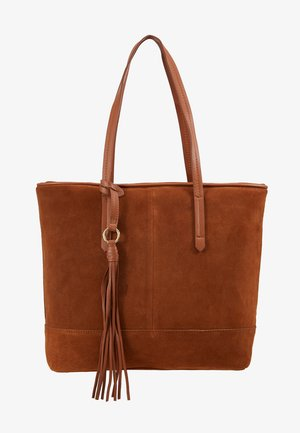 LEATHER - Shopping bags - cognac