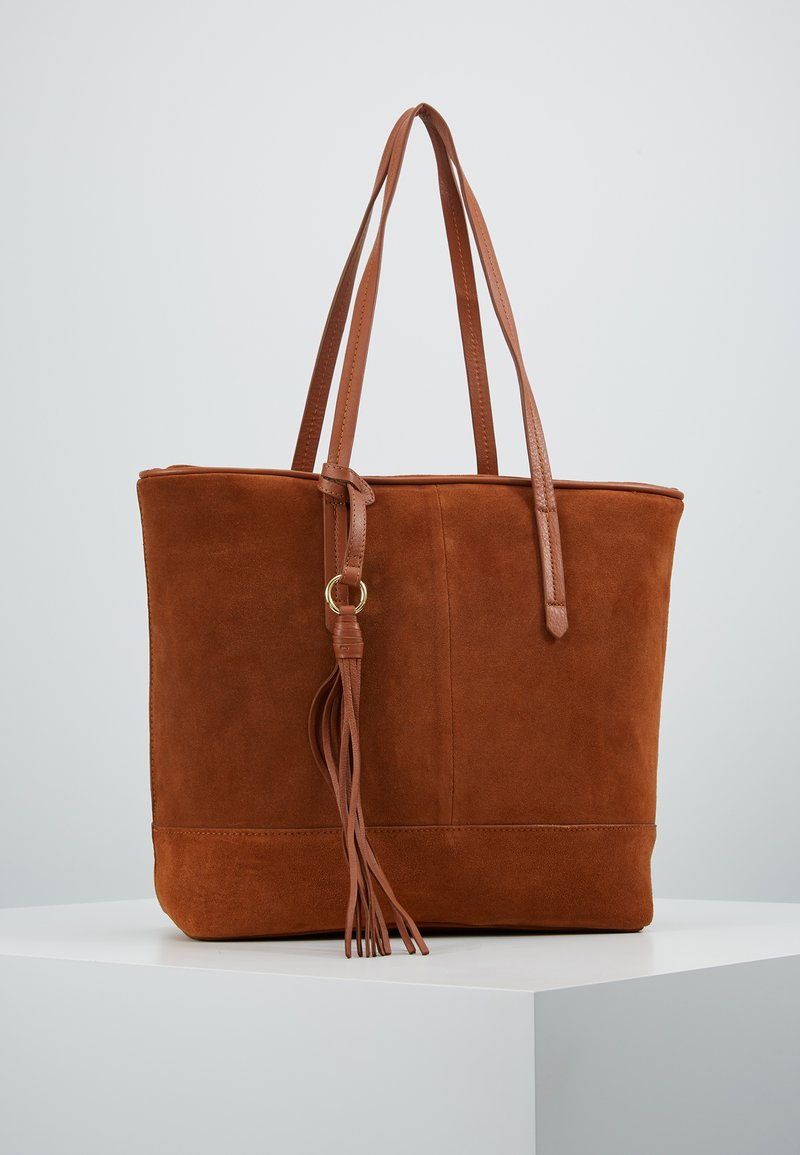 Anna Field - LEATHER - Bolso shopping - cognac
