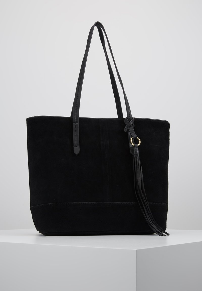 Anna Field - LEATHER - Tote bag - black