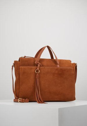 LEATHER - Taška na laptop - cognac