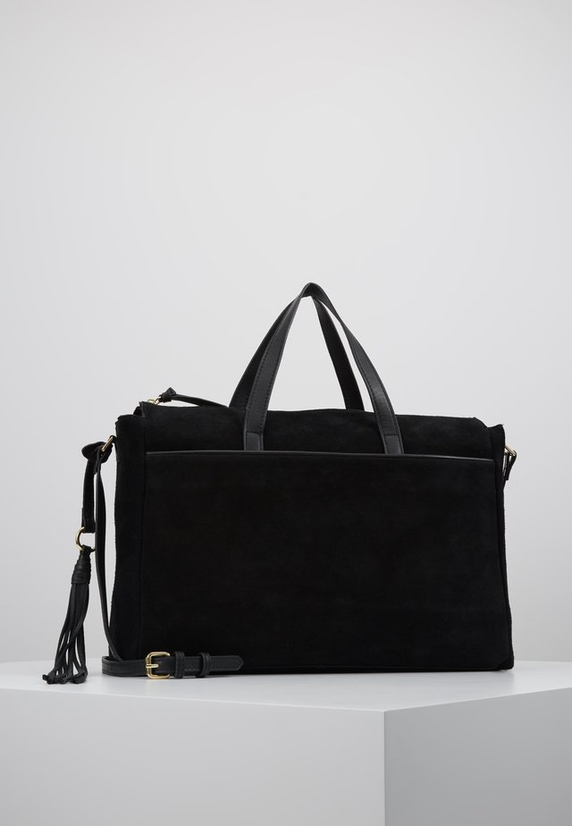 LEATHER - Computertasker - black