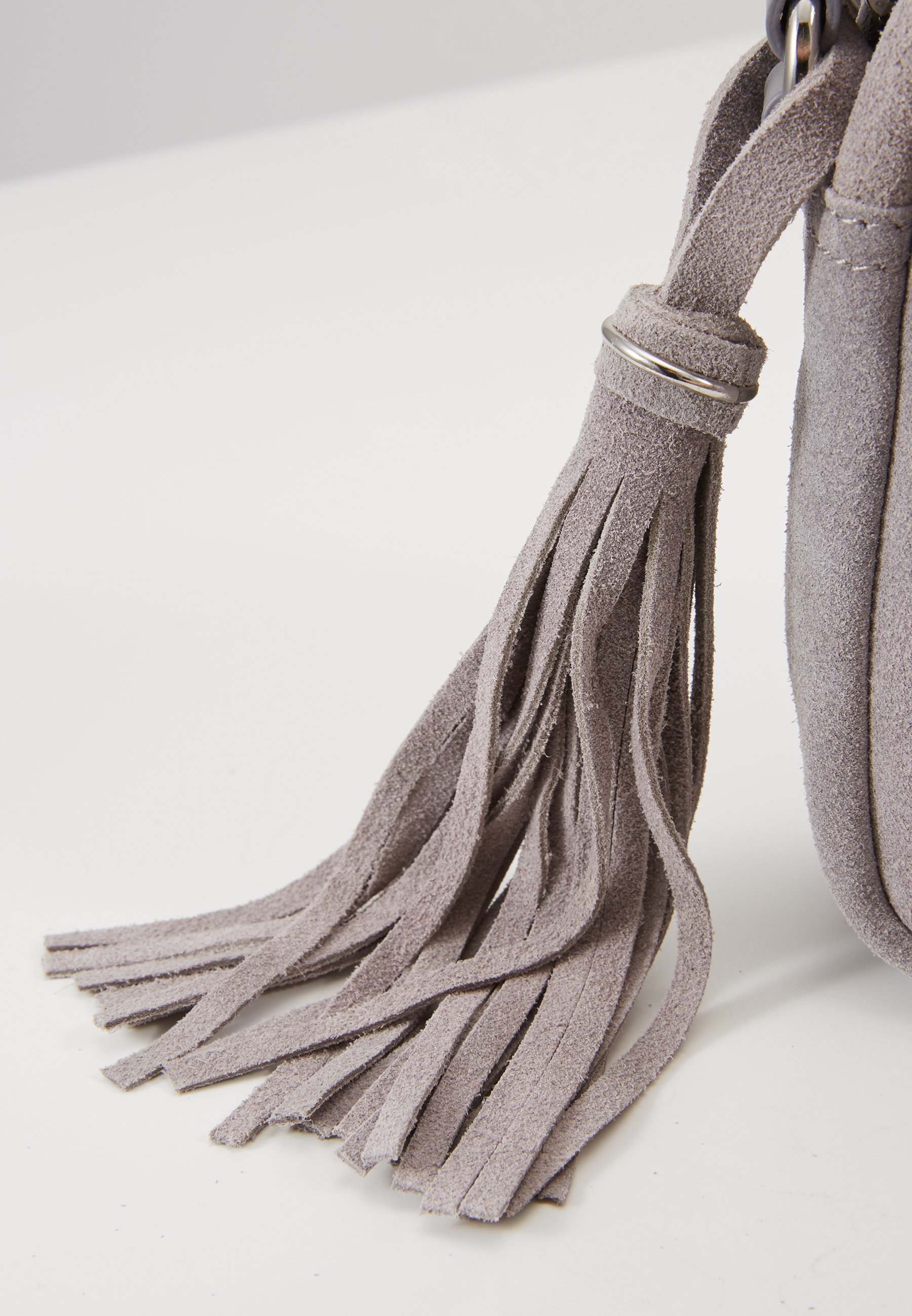 Anna Field Leather - Sac Bandoulière Light Grey