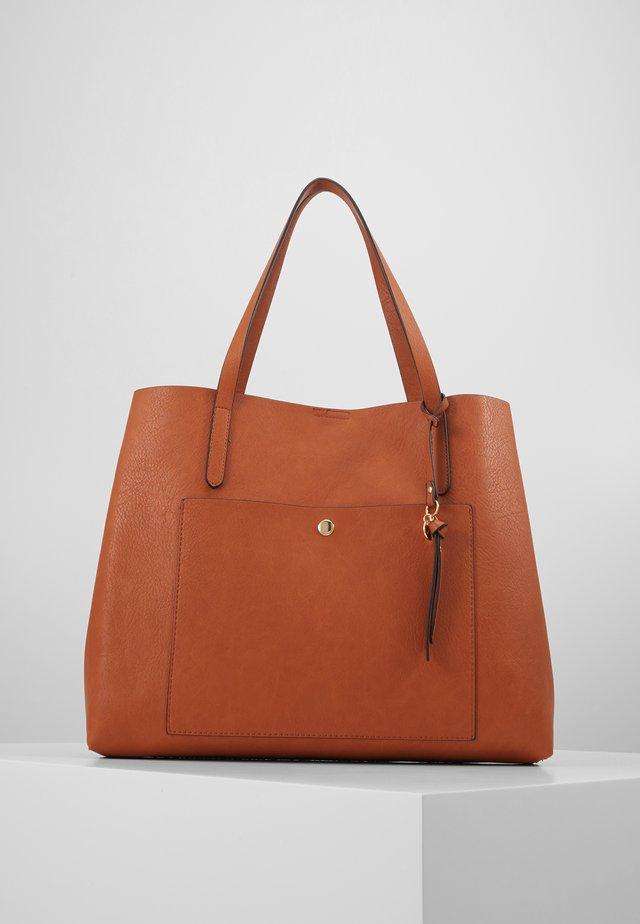 SHOPPING BAG / POUCH SET - Tote bag - cognac