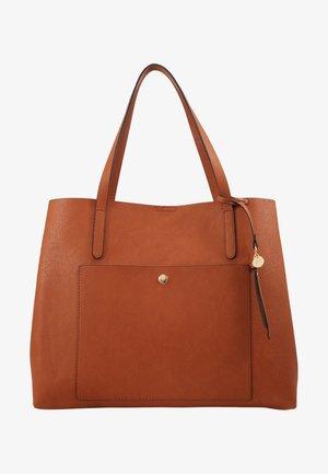 SHOPPING BAG / POUCH SET - Shoppingveske - cognac