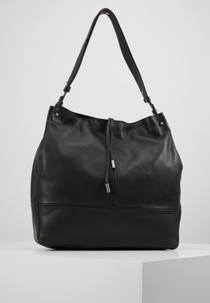 LEATHER - Bolso de mano - black