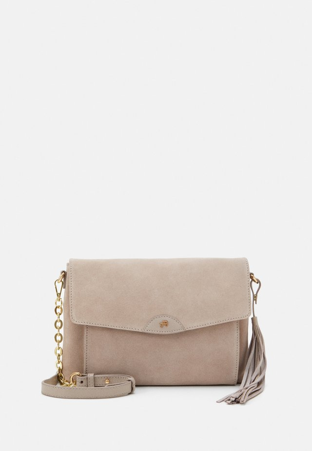 LEATHER - Across body bag - taupe